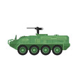 modern combat vehicle isolated icon vector image