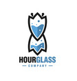 modern hourglass logo vector image