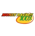 Money back comics icon vector image vector image