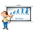 Monkey Presenter vector image vector image