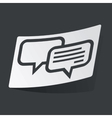Monochrome chatting sticker vector image vector image
