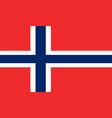 norwegian flag vector image vector image