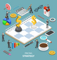 pricing strategy flat isometric concept vector image vector image