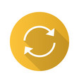 refresh arrows flat design long shadow glyph icon vector image