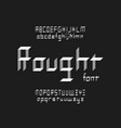 rought font alphabet vector image