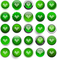 Round green download icons vector image vector image