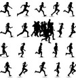 runner silhouette vector image vector image