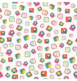 Seamless pattern with squares with rounded corners vector image