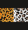 seamless with jaguar and snow leopard skin vector image vector image