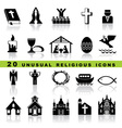 set christian icons vector image vector image
