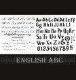 set from two abc letters for design vector image vector image