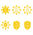 set icons spf vector image