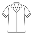 Shirt polo icon outline style vector image vector image