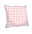 sketch of pillow art pillow isolated white pillow vector image vector image