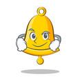 smirking school bell character cartoon