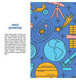 space elements background in line style with place vector image vector image