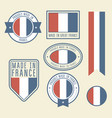 stickers tags and labels with france flag - badges vector image vector image