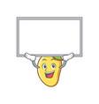 up board mango character cartoon mascot vector image vector image