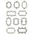 Vintage border frame icons vector image vector image