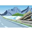 winding road in mountains along the sea or ocean vector image vector image