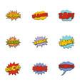 cinema banner icons set cartoon style vector image