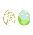 spring eggs vector image