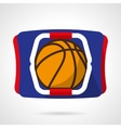 Basketball store flat color icon vector image