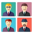 Flat colorful businessman avatar icons vector image