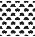 Lotus flower pattern seamless vector image