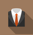 suit and tie icon with long shadow vector image