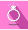 Icon wedding ring vector image