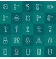 Keys and door lock icons vector image