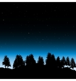 Evening contour black and landscape trees vector image