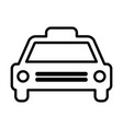 taxi line icon cab outline sign pictogram vector image