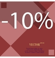 10 percent discount icon symbol Flat modern web vector image vector image