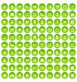 100 woman icons set green circle vector image vector image