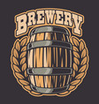 a beer barrel vector image vector image