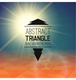 Abstract sunset with triangle field perspetive vector image vector image