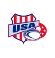 american rugby ball shield usa vector image vector image