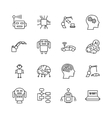 Artificial intelligence AI line icons Robot vector image vector image