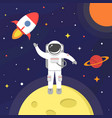astronaut in outer space spaceman isolated on vector image vector image