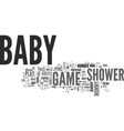 babygameshower text word cloud concept vector image vector image