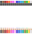 background of colored pencils pencils divided in vector image