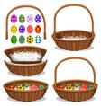 Basic Easter Basket vector image vector image