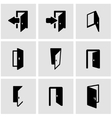 black door icon set vector image vector image