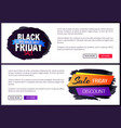 black friday big sale 2017 promo web posters info vector image vector image