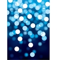 Blue festive lights background vector image vector image