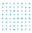 building icons set government icons vector image vector image