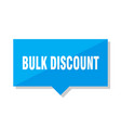 bulk discount price tag vector image vector image
