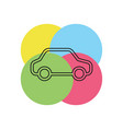 car isolated vector image